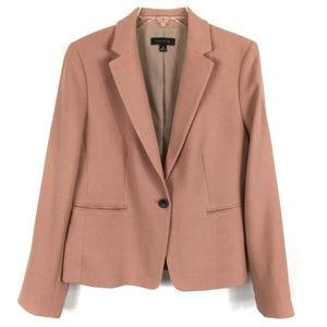 Ann Taylor 10 Dusty Pink Blazer Suit Jacket Career
